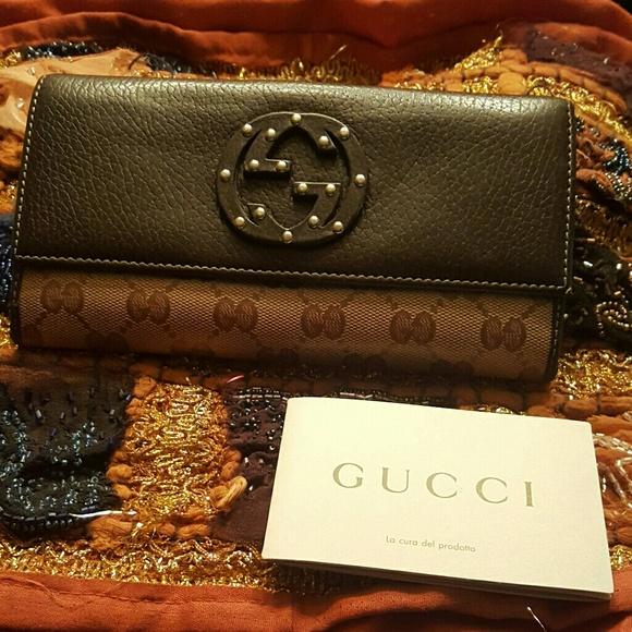 Gucci Handbags - 🎨 Gucci Crystal Metal stud GG wallet